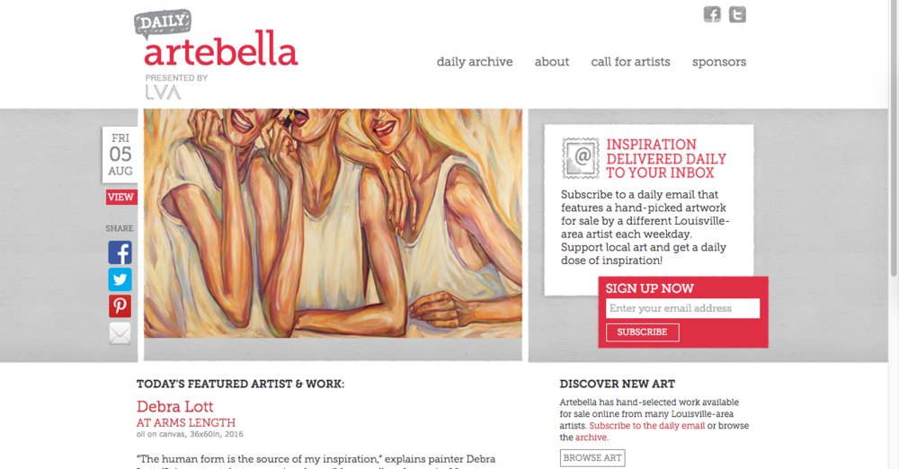 You can view the Artebella Daily archives by  clicking here .