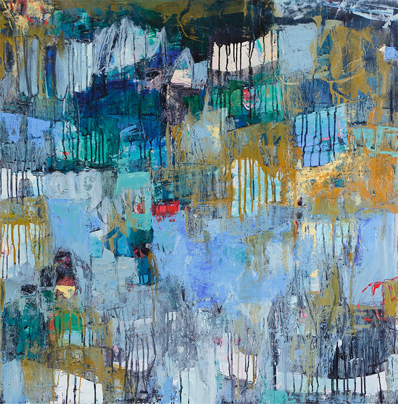 """Sea Change"" by Cheryl Chapman, 36x36in, oil on canvas, $3000 