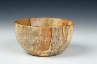 """#458 (Footed Tulip Poplar Bowl)"" by Lindsay Frost, wood, 4x5in (2016)"