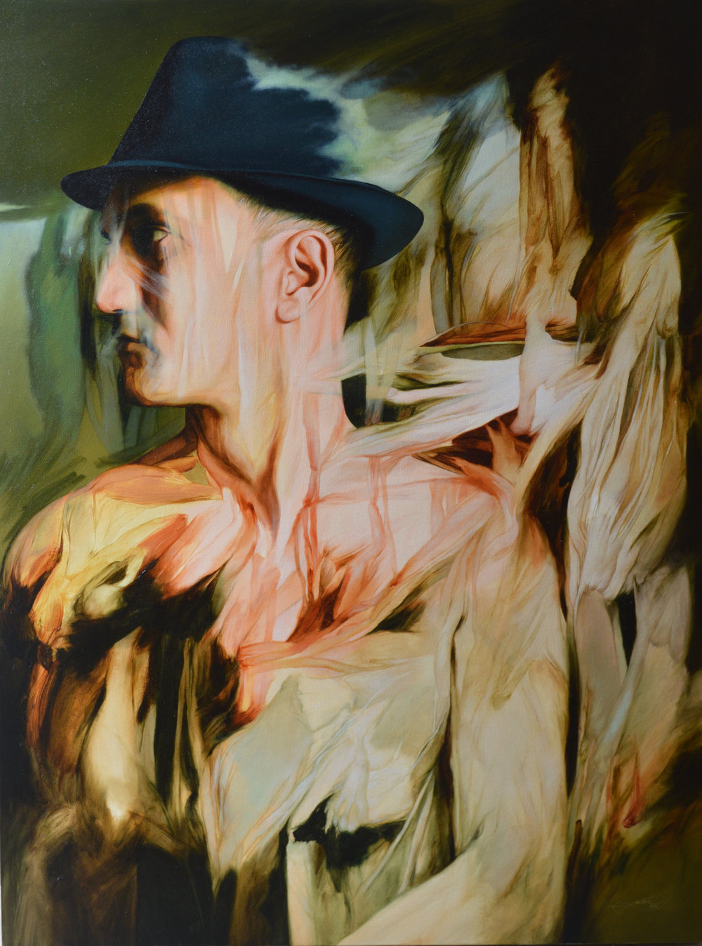 """Fading Flesh"" by   Julio Cesar Rodríguez, 48x36in, oil on canvas (2016)"