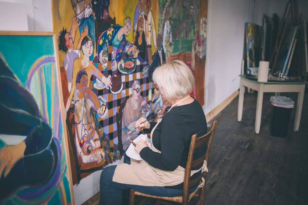 """Joyce Garner in her studio"" Photo by Sarah Katherine Davis For LVA (2016)"