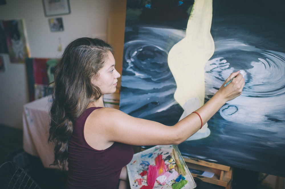 Artist Victoria Klotz at work. Photo Sarah Katherine Davis