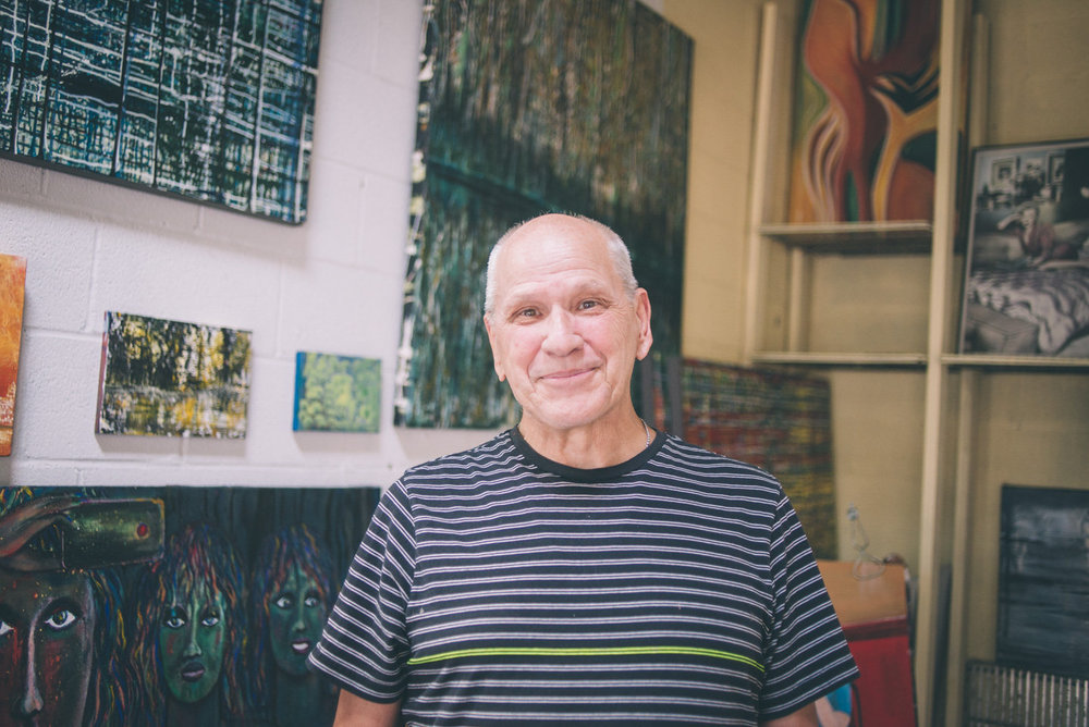 Robert Leo Jones in his studio. Photo by Sarah Katherine Davis For LVA (2016).