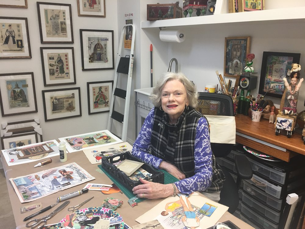 A photograph of Parsley in her studio.