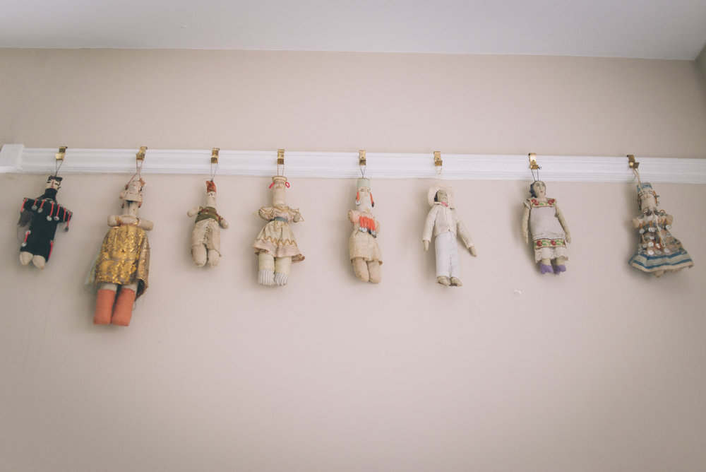 Dolls hanging in Anderson's studio. Photo by Sarah Katherine Davis Photography for LVA.