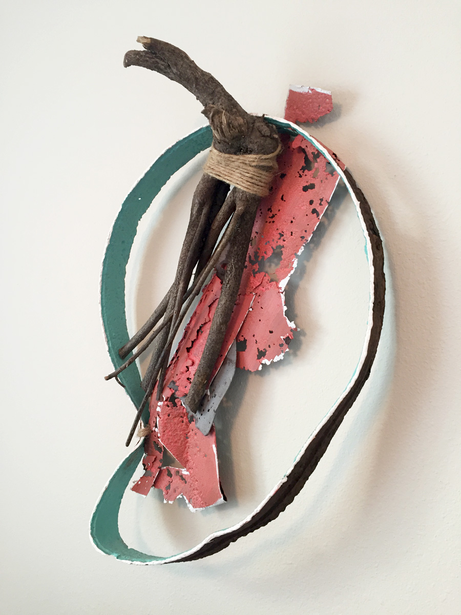 """Embody"" by Jonny Gilroy, steel, twine, root, acrylic, $420  