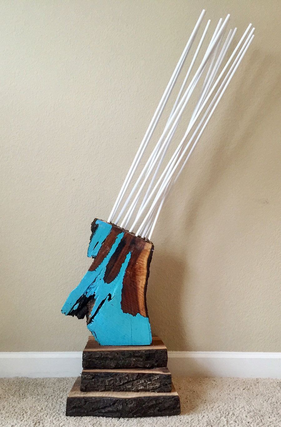 """Refraction"" by Jonny Gilroy, black walnut, acrylic, dowels, $520 
