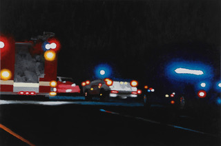 """On the Road #3"" by Tom Pfannerstill, 20x30in, acrylic on canvas (2016)"