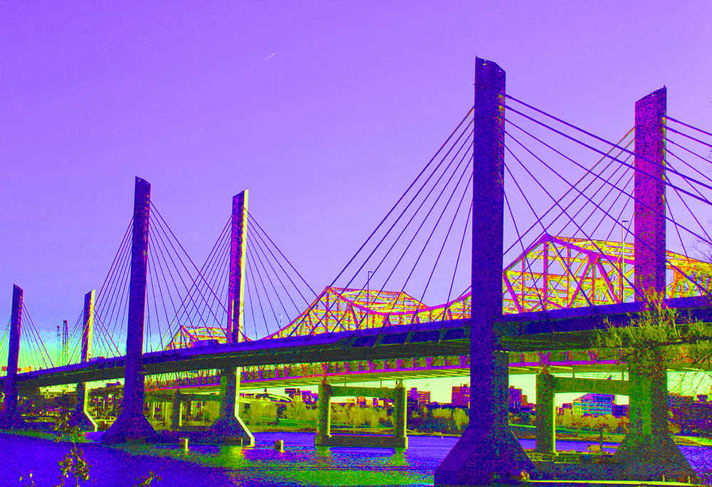 """Suspension V (Lincoln Bridge)"" by Patricia Brock, 16x20in, photography on archival photo paper (matted and framed), $225 
