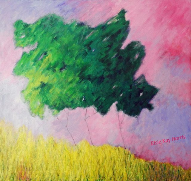 """Whispering Hills"" by Elsie Harris, 30x32in, acrylic on canvas, $850 