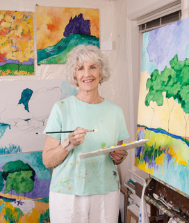 Elsie Harris in her studio. Photo by Ayla Christman.