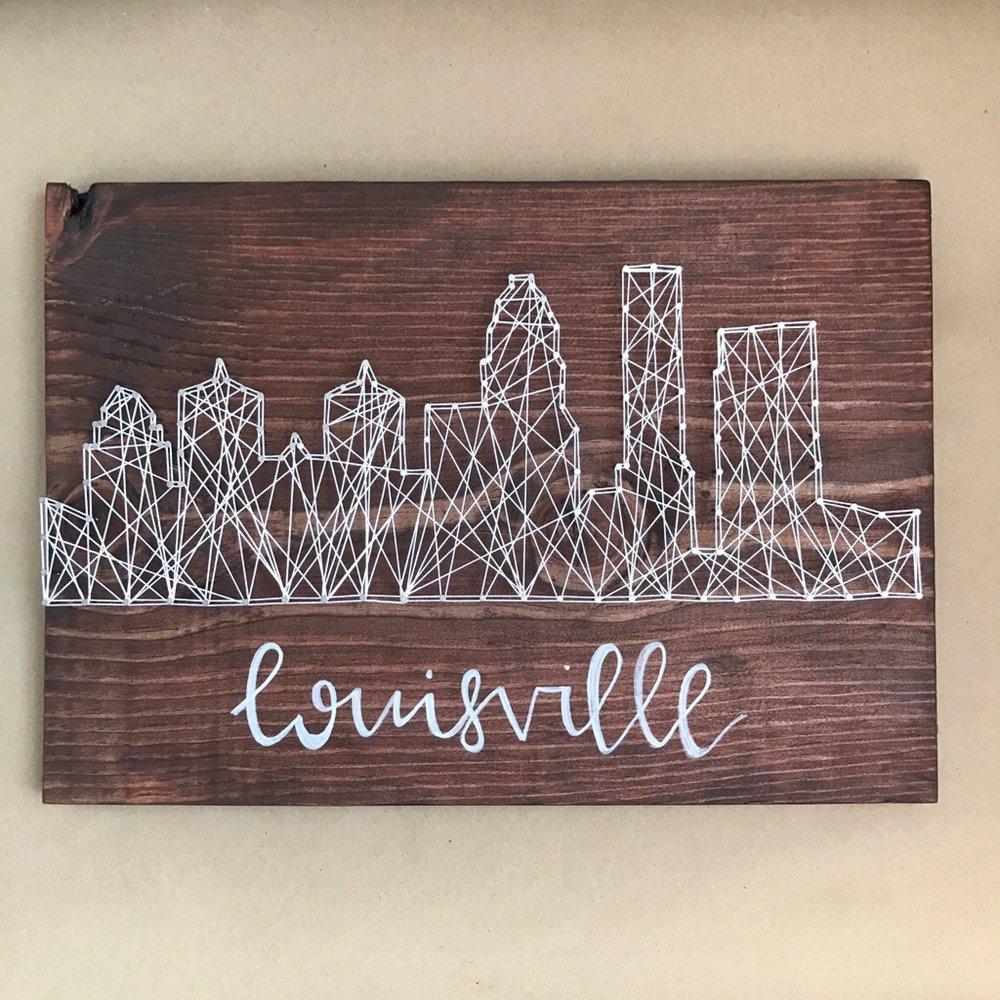 """Louisville Skyline"" by Wood & Twine, 16x12in, wood, string (2016), $75 |BUY NOW"