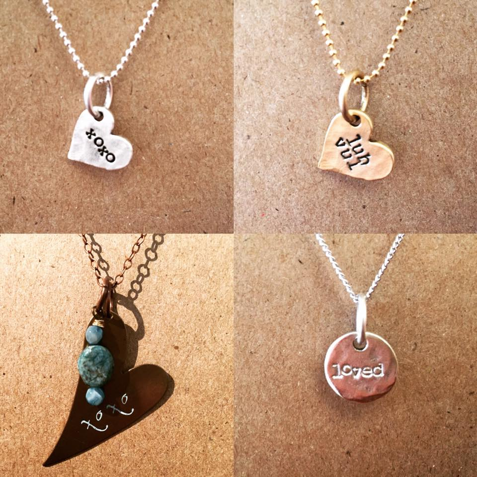 """Hammered & Stamped Necklaces"" by Gretchen Leachman"