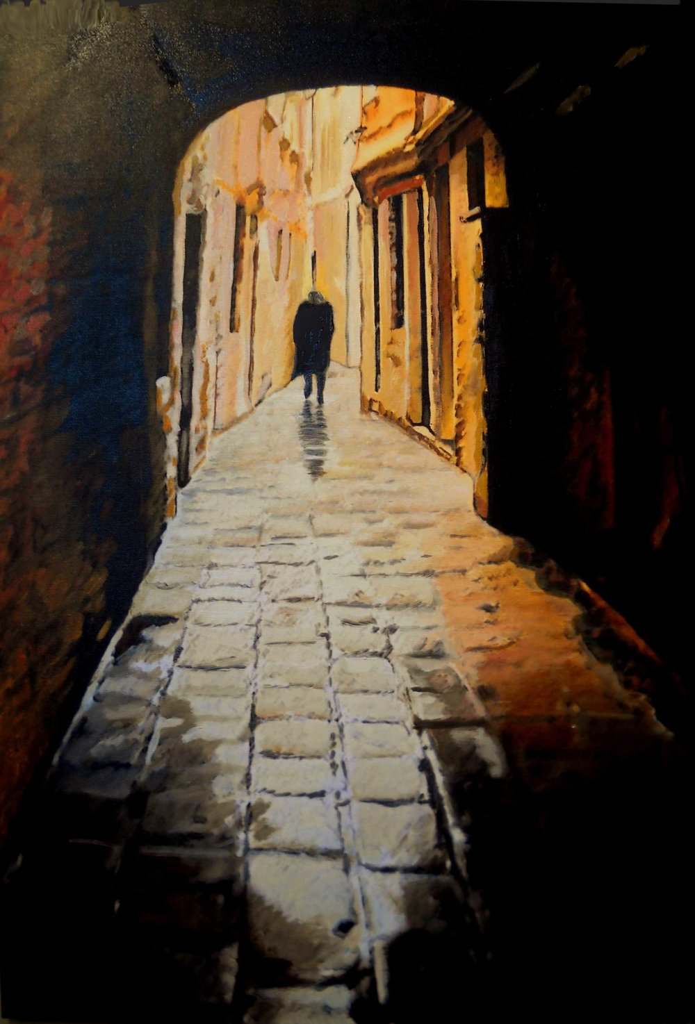 """Sotto Porto"" by Jill Baker, 24x36in, oil, NFS"