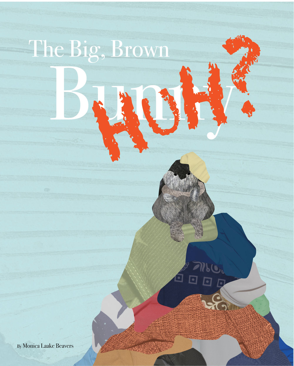 """Big Brown Huh?"" by Monica Beavers, 8x10in, mixed media/illustrated book (2015)"