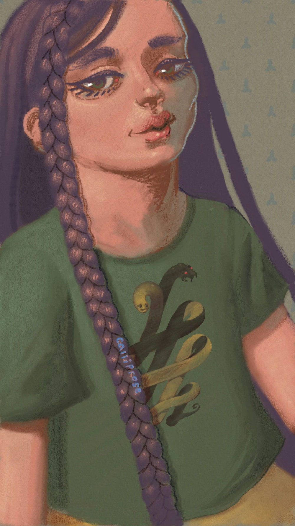"""Braid Boy 2.5"" by Jessica Booker, 1080x1920px, digital illustration (2016)"