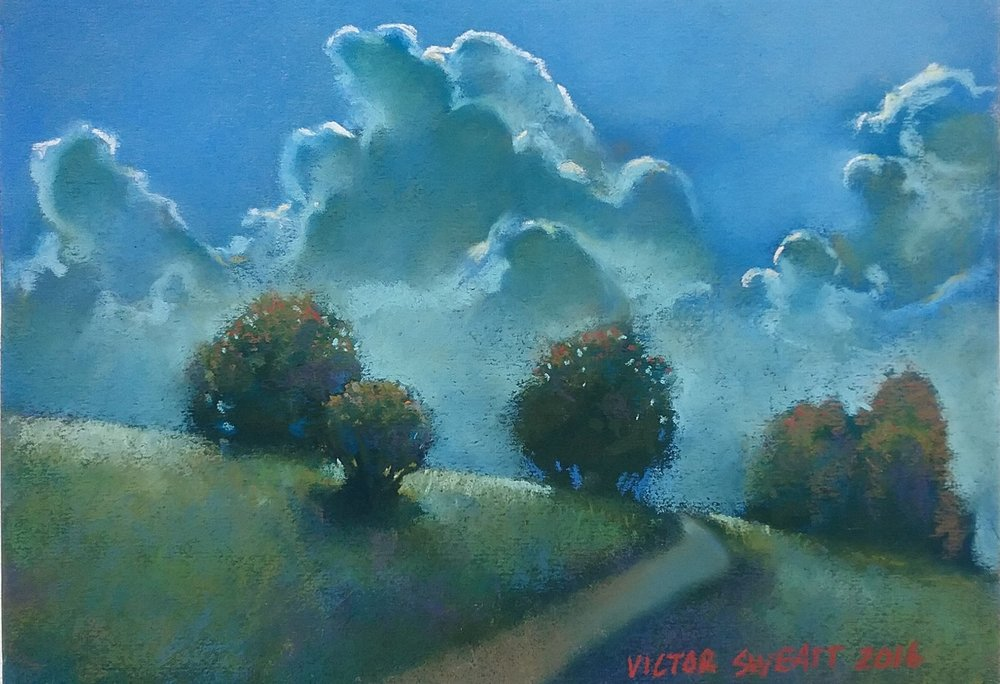"""Autumn Cool"" by Victor Sweatt, 9x12in, pastel on canson paper (2016), $550 