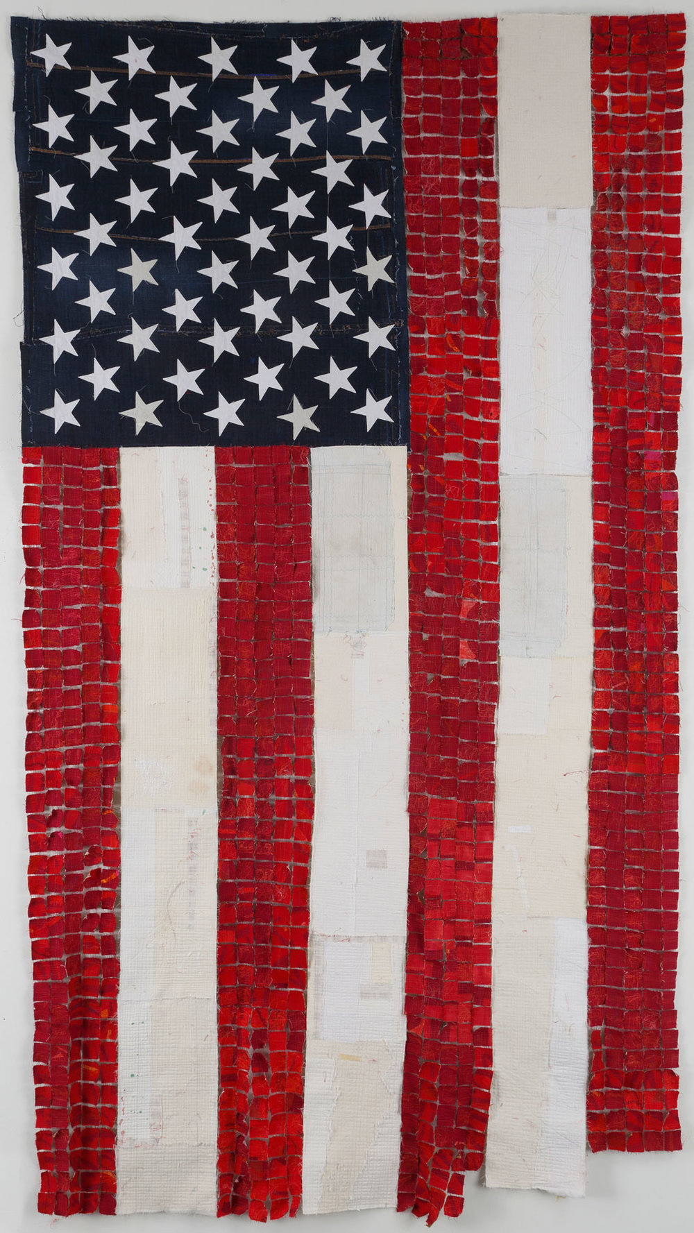 """Flagging"" by Kathleen Loomis, 98x54in, fiber (2016) $7000  
