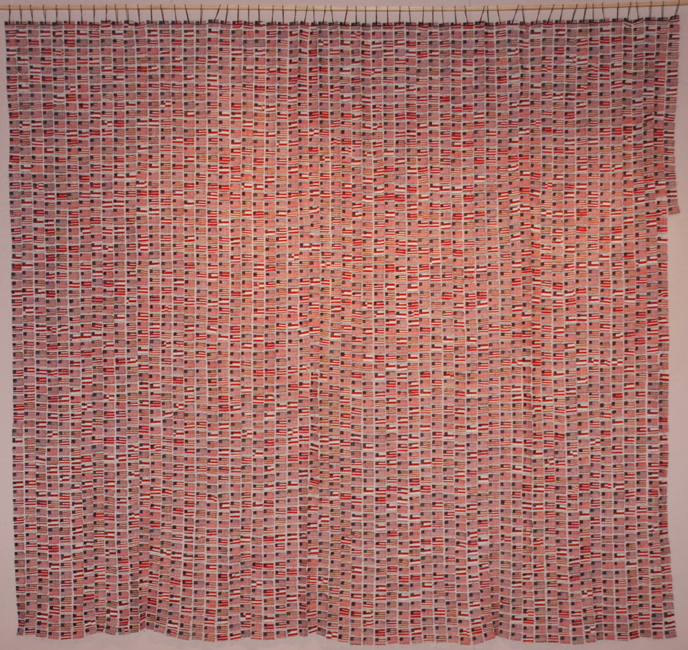 """Postage 3: Memorial Day"" by Kathleen Loomis, 86x100in, fiber (2008) NFS"