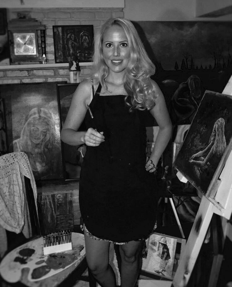 Hamilton in her studio.
