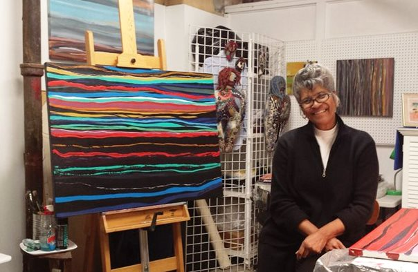 Barbara Tyson Mosley in her studio.