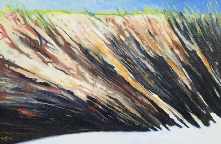 """Cliffside"" by Jenny Shircliff, 24x36in, oil on canvas (2016), $750