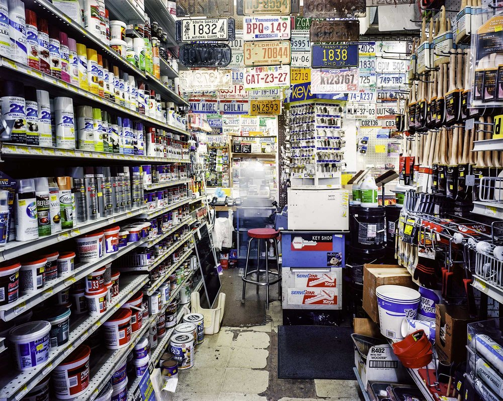 """Cedar Center Hardware"" by Charles Mintz, 32 x 40in, Inkjet Print From Scanned FIlm (2015), $1000 