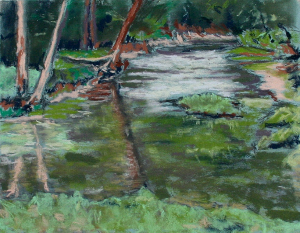 """Spring Floyds Fork"" by Barb McDevitt, 14x11in, pastel (2015) $350 