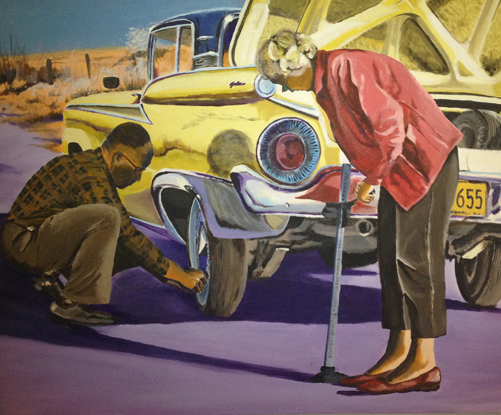 """Hurry Up, Fred!"" by Tom Cannady, 48x36in, acrylic on canvas (2015) $2800 