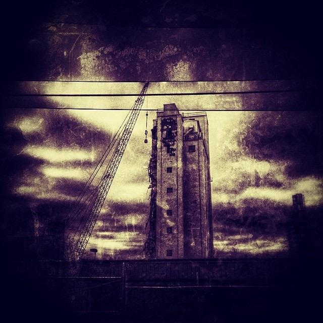 """Smoketown Teardown"" by Adam Horton, 36x36in, photograph"