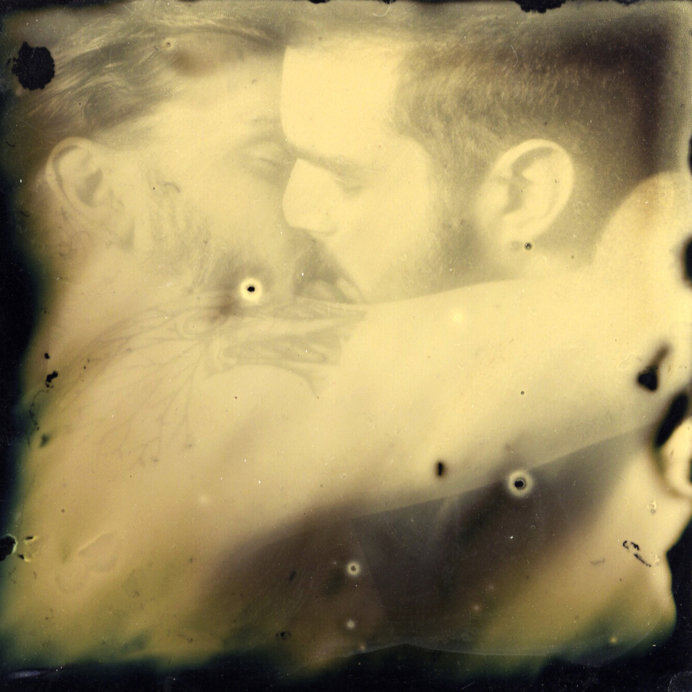 """Deux"" by Kevin Warth, 7x7in, ambrotype (2015), $750 
