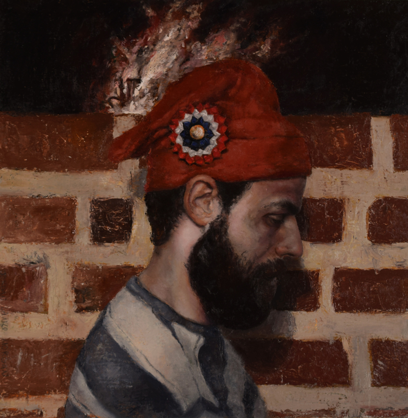 """Phrygian"" by Jordan Lance Morgan, 24x24in, oil on linen on board (2015)"