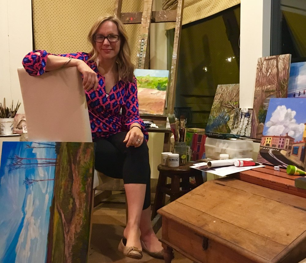 Anne Borders in her studio.