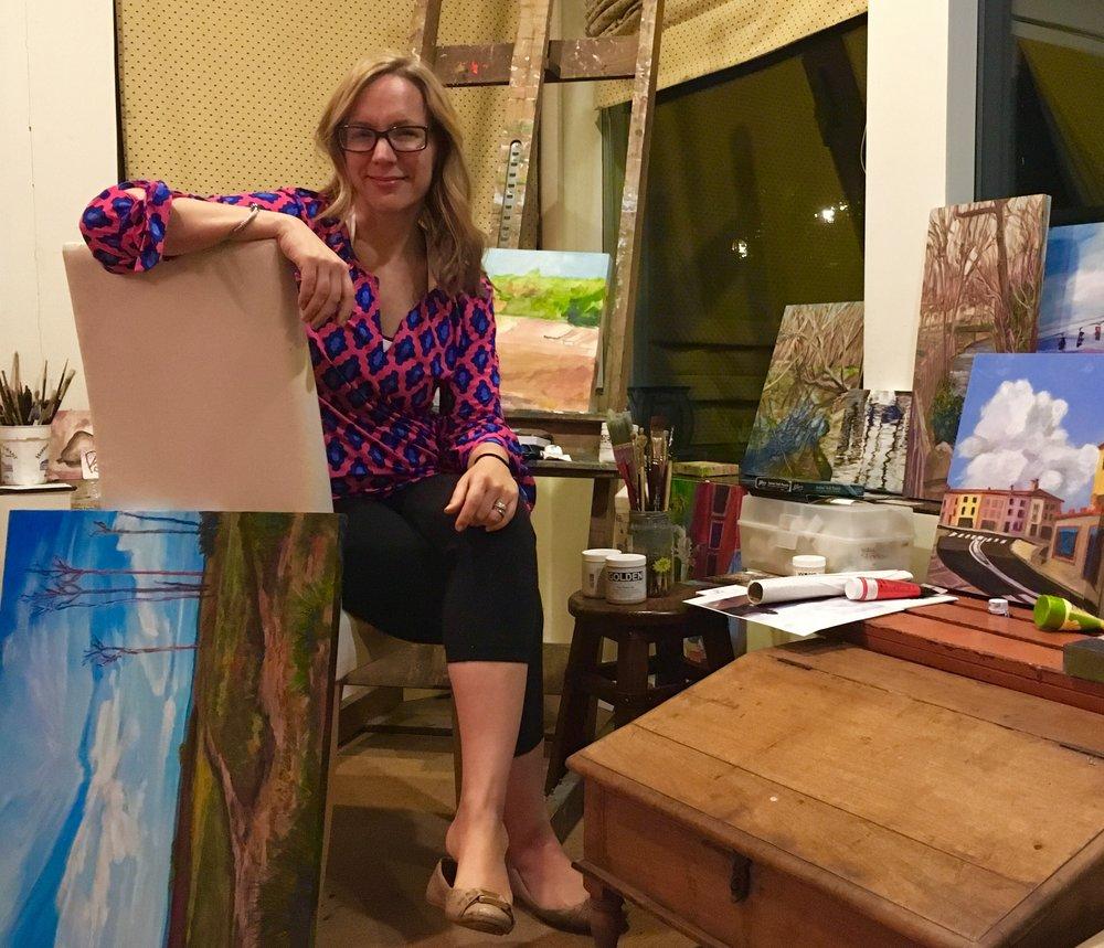 Anne Borders in her studio.