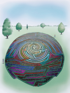 This unique labyrinth will engage people through the consideration of identity and personal journeys through.