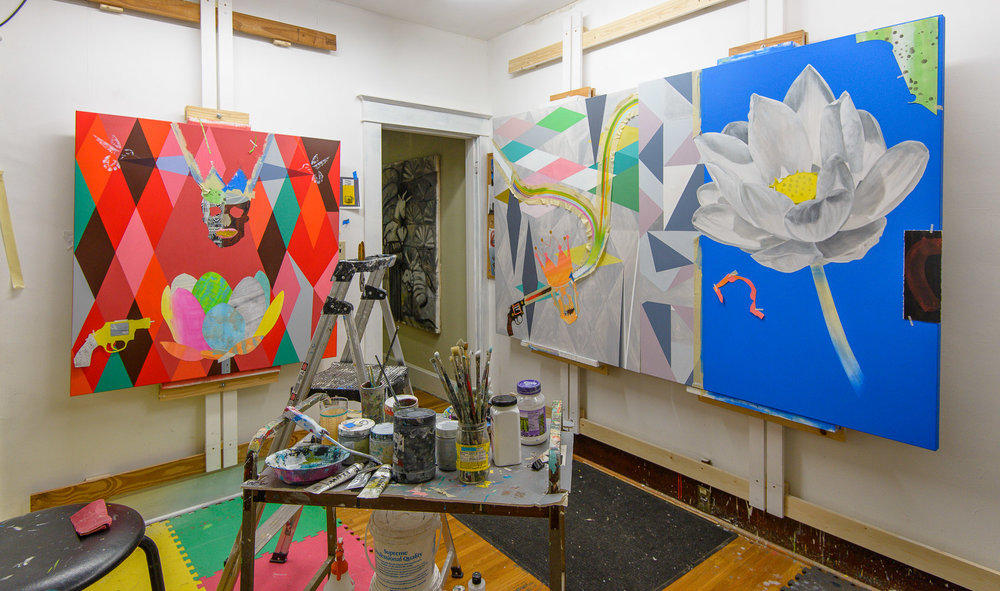 Kenneth Hayden's studio.