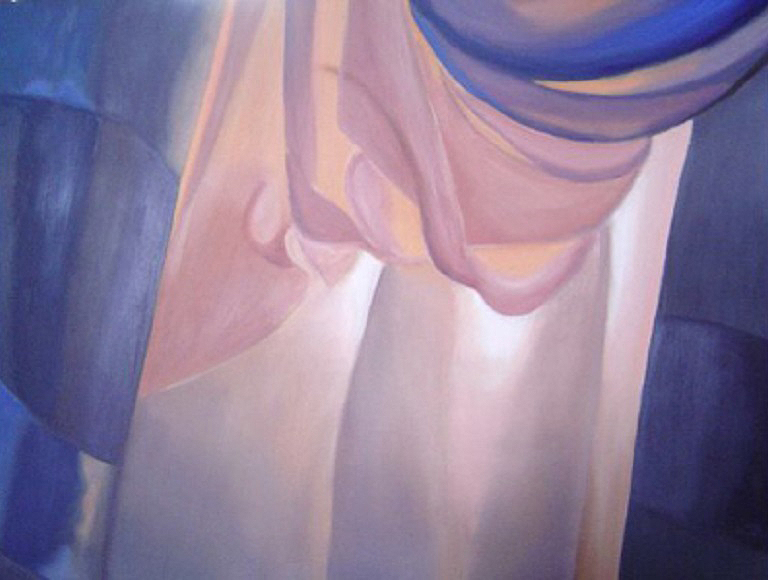 """Drapes"" by Carol Jones, 24x30in, oil on board (2012), $600 