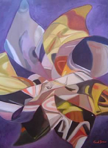 """Reflections in a Pinwheel"" by Carol Jones, 18x24in, oil on board (2015), $500 