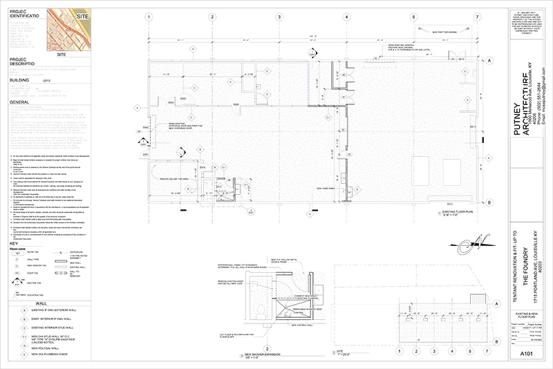 Building plans by Mose Putney Architect