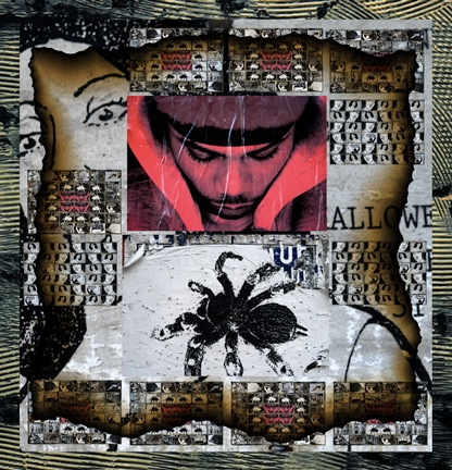 """Dangerous Passage"" by CJ Pressma,   quilt - photographic collage printed on cotton and quilted on a long arm machine $1800 