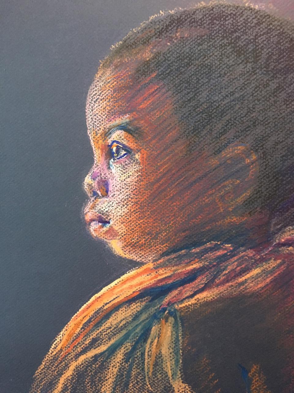 """Tanzanian Children (detail)"" by Susan Brooks"