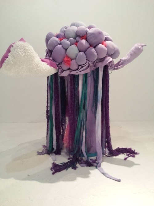 """Horny Sea Puppy #1"" by Jake Ford (Mentor), fleece, hand dyed cotton, and polyfi (2015)"