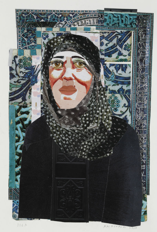 """Dela"" by Ann Stewart Anderson, 16x12in, cut paper mosaic (2017)"
