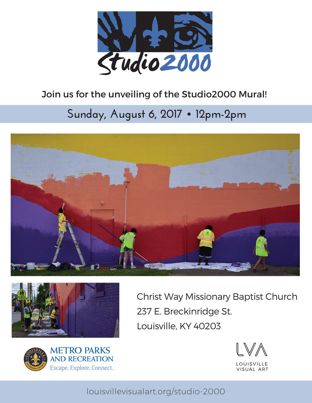 "Sunday is our Studio 2000 mural unveiling!   FRIDAY:  Harlan Strummer Welch-Scarboro shares ""Re-Animations"" at Craft Gallery   It's PYRO Gallery's last show on East Market Street...   ""First Look / Last Look"" cuts up at Regalo   SATURDAY:  Our neighbors at 1619 Flux invite you to ""Meet Your Neighbors: Feminine and LGBTQ Perspectives"""
