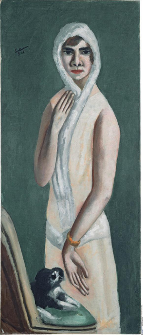 """Bildnis Quappi"" by Max Beckmann"