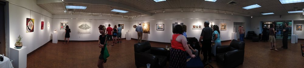 Panoramic shot of the Pairellels exhibit. (Photo courtesy of Kelly Rains.)