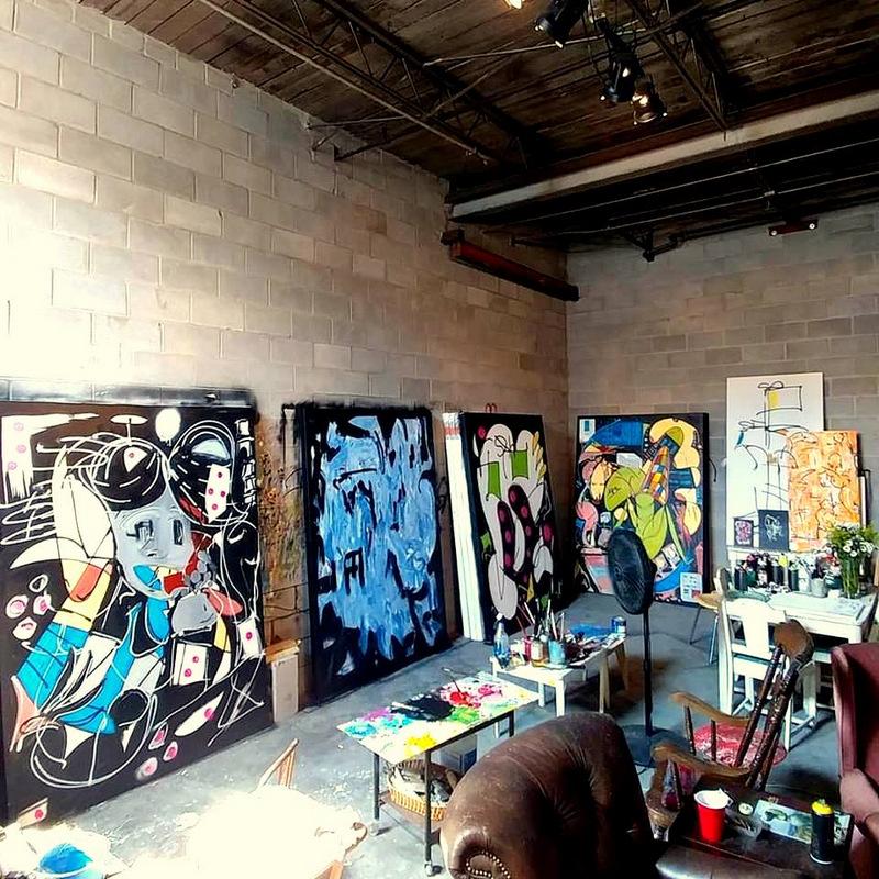 Archambault's studio