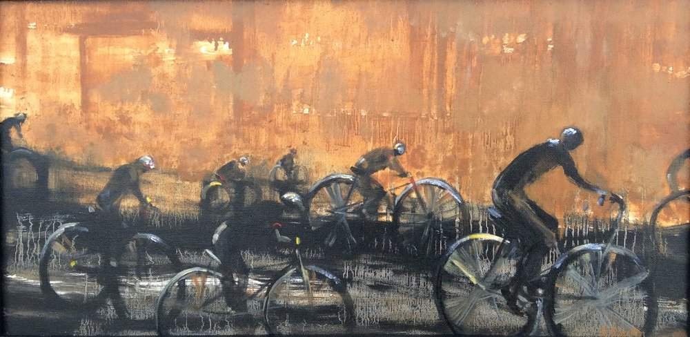 """Big Four Bikes (detail)"" by Kathie Daulton"