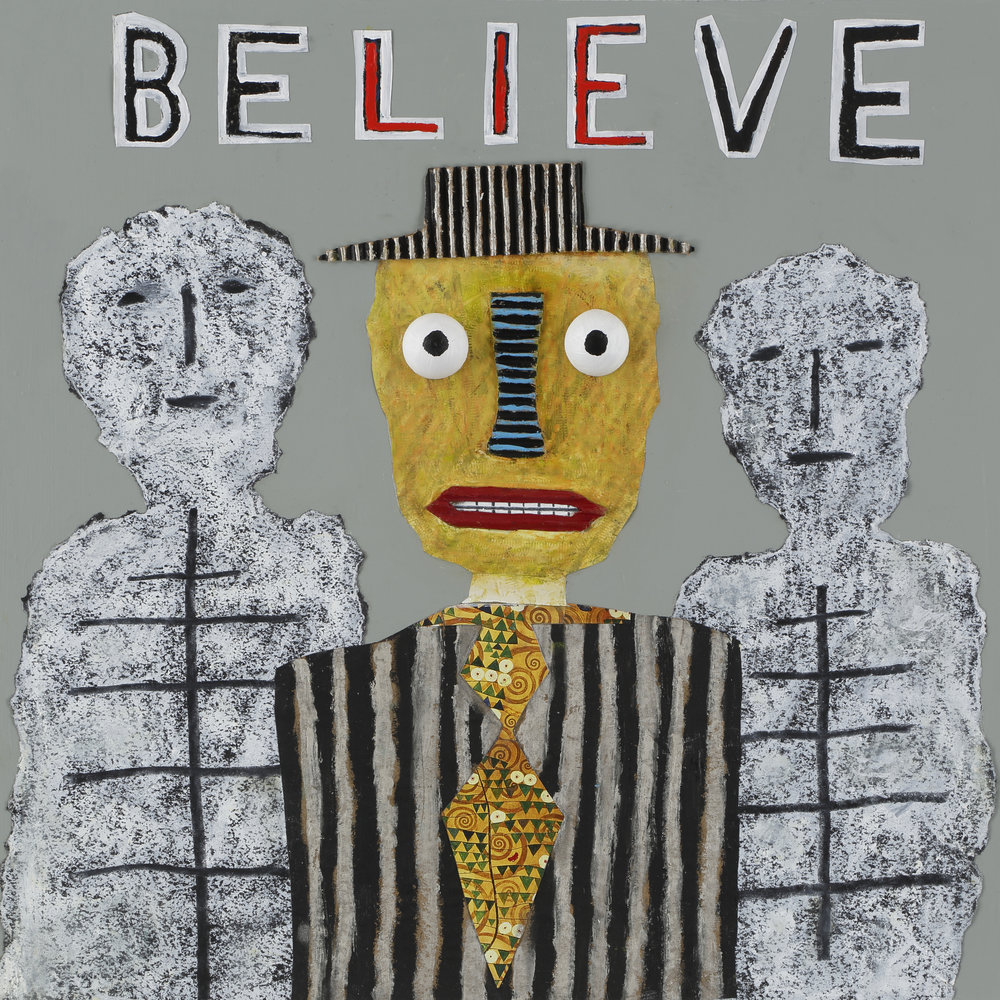"""Believe"", Tad DeSanto, mixed media, 24x24in NFS (sold)"