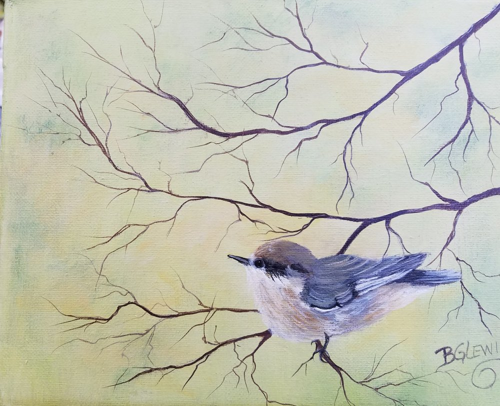 """Morning Melody"" by BG Lewis, acrylic, 11x14in, $175"